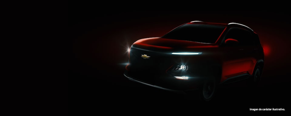Chevrolet Captiva 2022, camioneta SUV en color rojo metálico con luces LED.